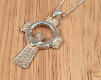 Celtic cross, claddagh and Celtic cross, silver Celtic cross, traditional Irish cross