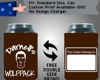 Name's WolfPac This Cooler Belongs To BLANK Collapsible Fabric Bachelor Party Can Cooler Double Side Print (Bach3)