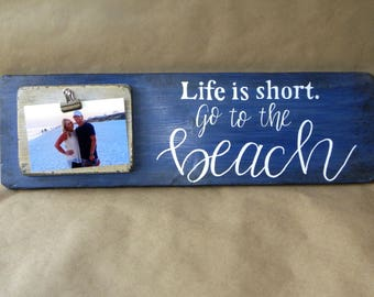 Beach Sign/Picture Frame