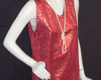 Red charleston woman costume, ref: D7 and D8, size 36/38 and 38/40.