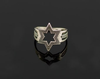 Star ring, Sterling Silver Ring Handcrafted Jewelry, Weight 2,46g.