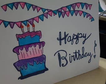 Happy Birthday Bunting Card