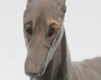 Greyhound Standing - Small Cold Cast Bronze Dog Statue