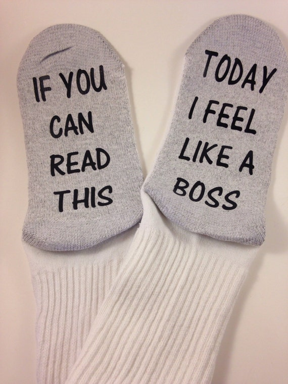 Socks crews if you can read this ... Today i feel like a boss