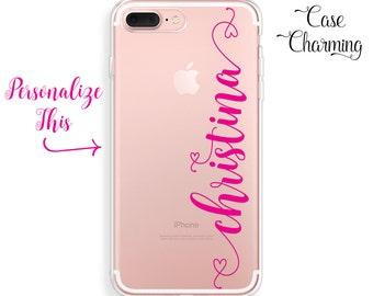 Custom Name iPhone 7 Plus Case Rubber iPhone 6s Plus Case Clear iPhone 6 Plus Case iPhone 7 Case iPhone 6s Case iPhone 6 Case iPhone SE Case