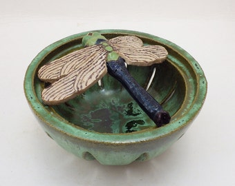 Dragonfly pot pourri bowl