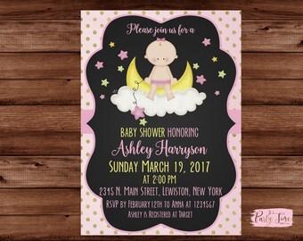 Baby Shower Invitation - Pink  Baby Shower invitation - Baby Shower Girl Invitation - It's a Girl Baby Shower Invitations.