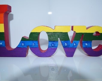 Rainbow love decoration
