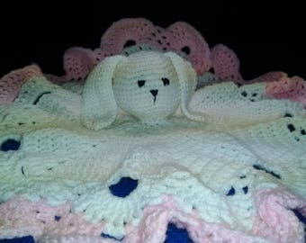 Crocheted Bunny Baby Toy