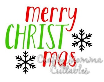 Merry CHRISTmas SVG file // Merry CHRISTmas SVG // Christmas Cut file // Cut File // Christmas Silhouette File // Cutting File