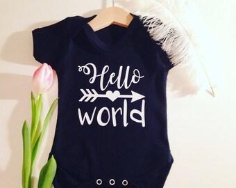 Hello World Baby Vest Top