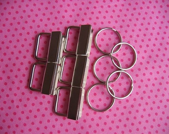 "Key Fob Hardware 1""/25mm x 10 Nickel finish"