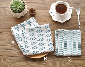 Spring New leaf napkins, basic linen napkins, soft linen fabric, Dining placemats, tea towels