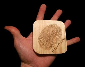 Fingerprint coasters