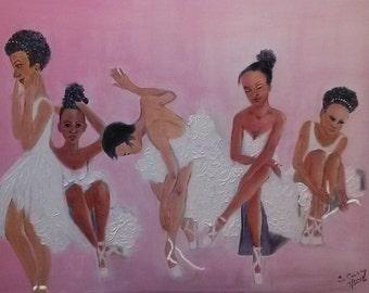 Ballerinas Oil Painting