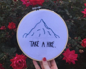 Take A Hike 7 Inch Embroidered Hoop