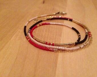 GoldFilled & Silk Long Bracelet