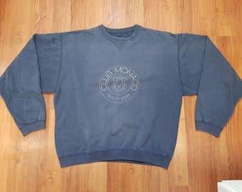 Vintage club monaco sweatshirt, club monaco sweatshirt, 90s club monaco, size XXL