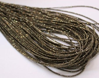 Good Quality Pyrite beads 3 to 4mm size, Rondelle faceted,  Strand 13 inch Long ,Genuine In Wholesale rates