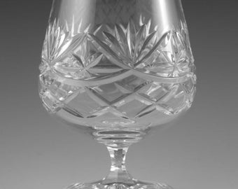 "EDINBURGH Crystal - LOCHALSH Cut - Brandy Glass / Glasses - 4 3/8"""