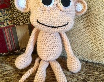 Crochet pink monkey