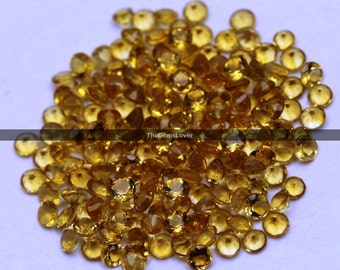 10 pieces 5mm Citrine faceted round gemstone AAA+ quality Citrine round faceted loose gemstone yellow citrine wholesale gemstone cabochon