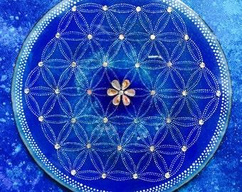 Flower of life blue