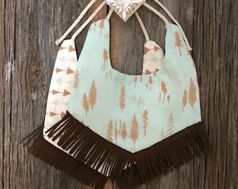 Boho baby Bib! Reversible to accessorize your little one!