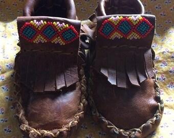 CUSTOM ORDER Children's moccasins