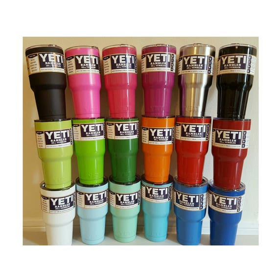 YETI - Authentic 30 oz Rambler Tumbler Powder Coated Cup Mug Yeti cups 30oz Yeti Custom Painted Colored Gift Idea Large Bridesmaid Groomsman