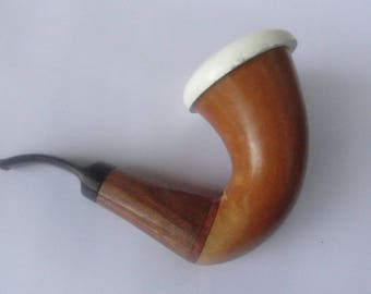 Vintage Estate Calabash Meerschaum ...Tanzania Smoking Pipe  Estate smoking pipe