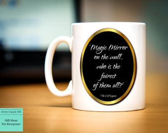 Disney Inspired Mug   Snow White   Magic Mirror   Fairest Of Them All   Evil Queen