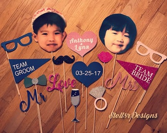 Custom PHOTO BOOTH PROPS / Photo Props for Weddings