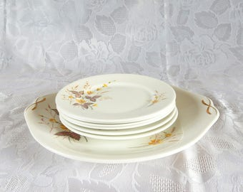 Queen Anne 'Jasmine' Side Plates and Cake Plate