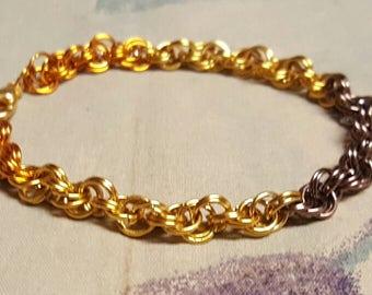 Sunflower spiral bracelet
