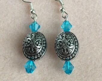 Beautiful beaded, sterling silver earrings!