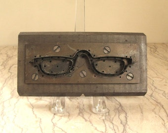 1950's French steel eyeglass mold- on hold for Valerie