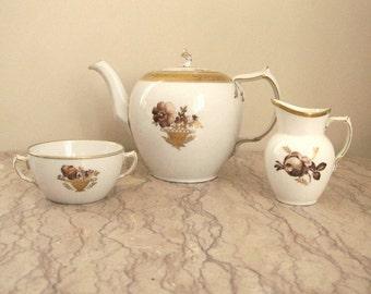vintage Royal Copenhagen tea set