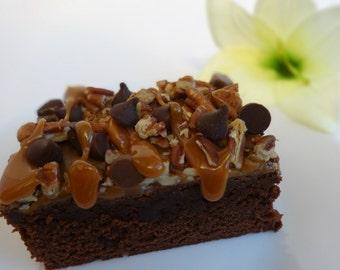 Brownies - Chocolate Turtle Brownies, Gourmet Brownies