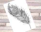 "Sticker A5 ""Feather"""