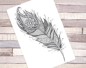 "Sticker A5 ""Feather"""