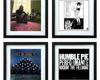 Humble Pie - Framed Album Art - Set of 4 Images