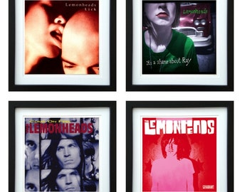 The Lemonheads - Framed Album Art - Set of 4 Images