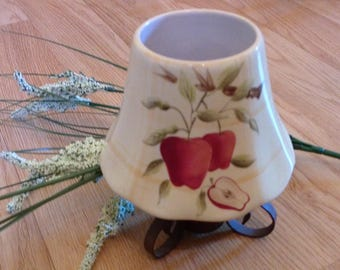 Candle Holder With Apple Motif