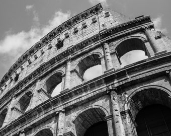 Colosseum Rome, Rome Photography, Italy Architecture, Rome B&W