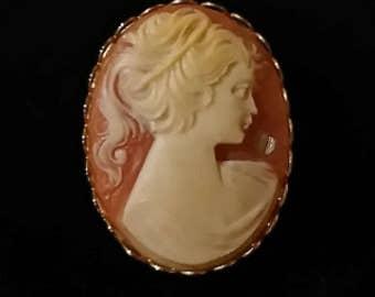 Lady Cameo brooch