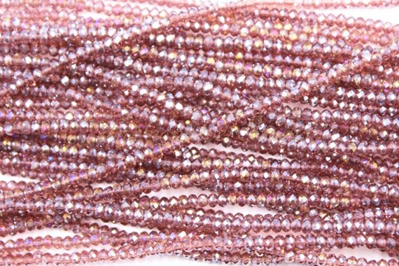 Basket Weaving Supplies Toronto : Mm crystal faceted rondelle beads full strand
