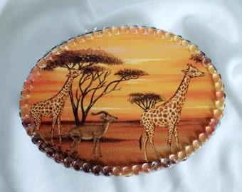 Z African decoupage box