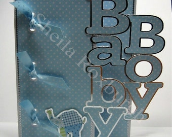 Baby boy book/card fcm cutting file