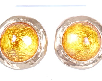 Timeless Authentic Vintage 1960s Yves Saint Laurent Earrings with logos